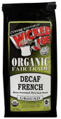 Organic Fair Trade Ground Decaf Coffee French 12 oz, Wicked Joe