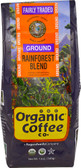 Ground Coffee Rainforest Blend 12 oz, The Organic Coffee Co