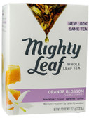 Whole Leaf Black Tea Pouches Orange Blossom 15 Tea Bags Mighty Leaf