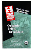 Organic Black Tea Irish Breakfast 20 Tea Bags, Equal Exchange