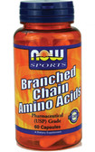 Now Foods Branch-Chain Amino 60 Caps, Muscle Growth