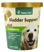 Bladder Support Plus Cranberry For Dogs 60 Soft Chews, NaturVet