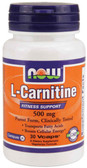 Carnitine 500 mg 30 Vcaps, Now Foods, Fitness Support