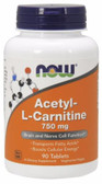 Acetyl L-Carn 750mg   90 Tabs, Now Foods