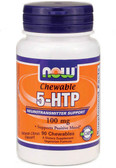 5-HTP 100 mg 90 Chewable Lozenges, Now Foods, Positive Mood