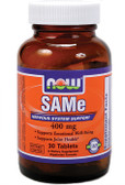 SAM-E 400 mg 30 Tabs, Now Foods, Joints, Stress