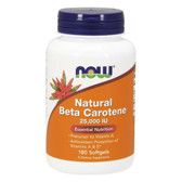 Beta Carotene 25000, 180 Softgels, Now Foods, Antioxidant