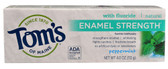 Natural Fluoride Toothpaste Enamel Strength Peppermint 4 oz, Tom's of Maine