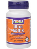 Now Foods Ultra A & D-3 100 Softgels, Bones & Teeth