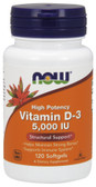 Vitamin D3 5000 IU 120 Sgels, Now Foods Vitamins