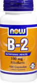 B-2 100 mg 100 Caps, Now Foods Vitamin