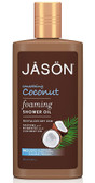 Foaming Shower Oil Smoothing Coconut 10 oz, Jason