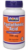 Pantothenic Acid 500 mg 100 Caps, Now Foods