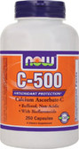 C-500 Ascorbate 250 Caps, Now Foods Vitamins