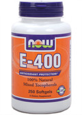 E-400 MT 250 Softgels Now Foods, Antioxidant