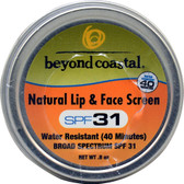 Natural Lip & Face Screen SPF 31 0.5 oz, Beyond Coastal