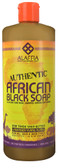 Authentic African Black Soap Lavender Ylang Ylang 32 oz, Alaffia