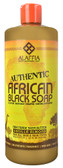 Authentic African Black Soap Vanilla Almond 32 oz, Alaffia
