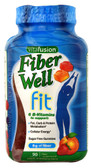 Fiber Well Fit Peach Strawberry Berry 90 Gummies, Vitafusion