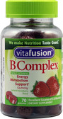 B Complex Energy Metabolism Support Natural Strawberry 70 Gummies, Vitafusion