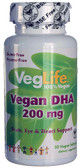 Vegan DHA 200 mg 50 Vegan sGels, VegLife