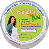 Preggie Pop Drops Plus Sour Raspberry Sour Lemon 21 Pieces, Three Lollies