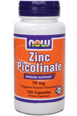 Zinc Picolinate 50 mg 120 Caps Now Foods