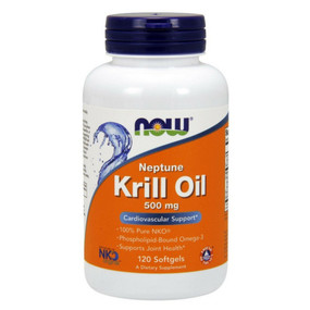 Neptune Krill Oil 500 mg 120 Softgels Now Foods