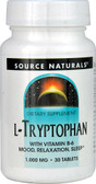 L-Tryptophan 1000 mg 30 Tabs, Source Naturals