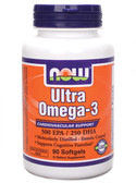 Ultra Omega 3 Fish Oil 90 Softgels, Now Foods