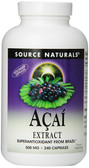 Acai Extract 500 mg 240 Caps, Source Naturals