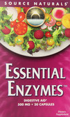 Essential Enzymes 500 mg 30 Caps, Source Naturals