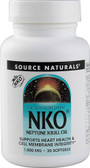 NKO Neptune Krill Oil 1000 mg 30 sGels, Source Naturals