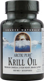 ArcticPure Krill Oil 500 mg 30 sGels, Source Naturals