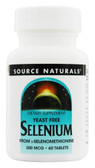 Selenium No Yeast 200 mcg 60 Tabs, Source Naturals