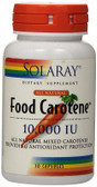 Dry Food Carotene 10000 IU 30 Caps, Solaray
