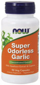 Super Odorless Garlic 90 Caps Now Foods
