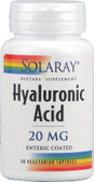 Hyaluronic Acid 20 mg 30 VCaps, Solaray
