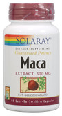 Maca Extract 300 mg 60 Caps, Solaray