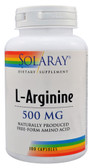 L-Arginine 500 mg 100 Caps, Solaray