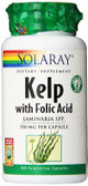 Kelp w/Folic Acid 100 VCaps Solaray