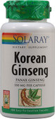 Korean Ginseng Root 550 mg 100 Caps, Solaray