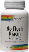 No Flush Niacin 500 mg 100 VCaps, Solaray