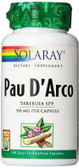 Pau D'Arco Inner Bark 510 mg 100 Caps, Solaray