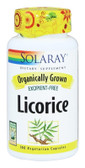 Organically Grown Licorice 100 VCaps, Solaray