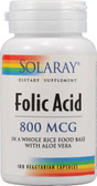 Folic Acid 800 mcg 100 VCaps, Solaray