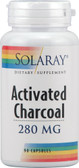 Activated Charcoal 280 mg 90 Caps, Solaray