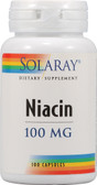 Niacin 100 mg 100 Caps, Solaray