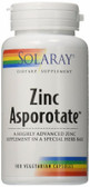 Zinc Asporotate 100 Caps Solaray