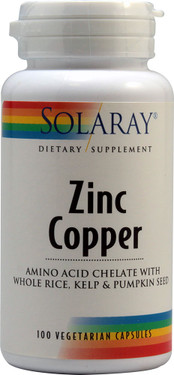 Zinc Copper 100 VCaps, Solaray